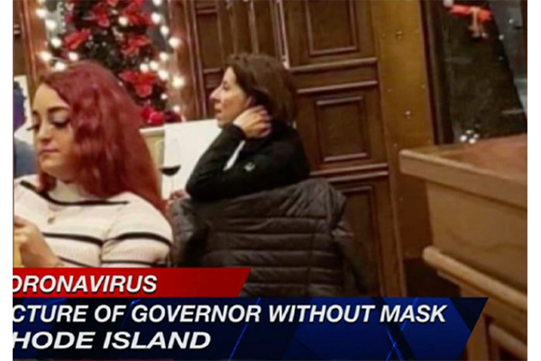 Report: Rhode Island governor tells people to 'stay home', then gets caught hanging out at a wine bar