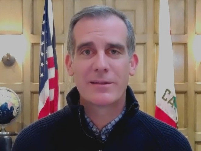 Los Angeles Mayor Eric Garcetti - Screenshot courtesy of NBC News