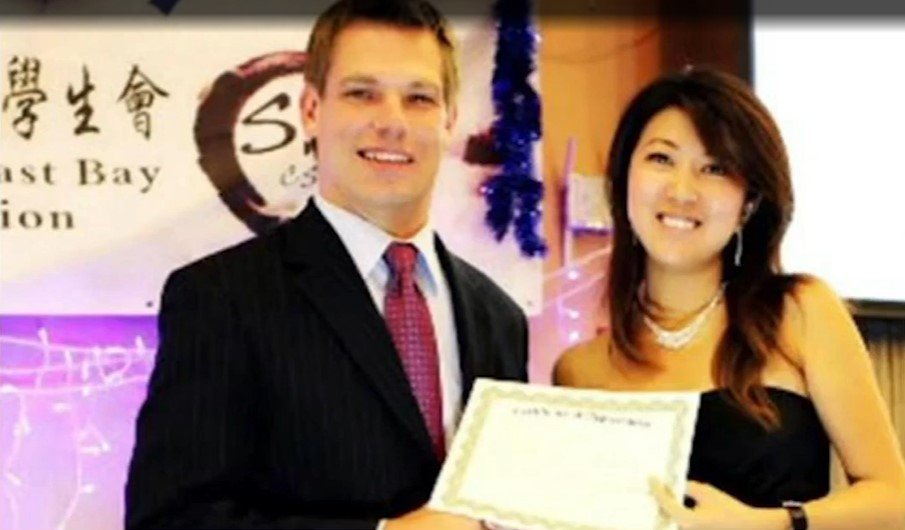 Rep. Eric Swalwell (D-Calif.) with suspected Chinese spy Christine Fang - Screenshot courtesy of New York Post