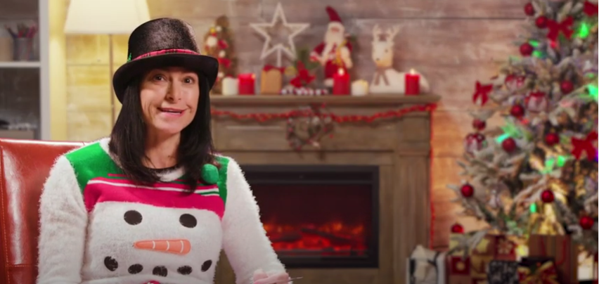 Michigan Attorney General Dana Nessel uses Christmas theme during November video - Screenshot courtesy of Michigan AG on YouTube