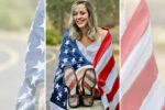 School bans yearbook photo of student with American flag draped over her shoulders, says 'no props allowed'