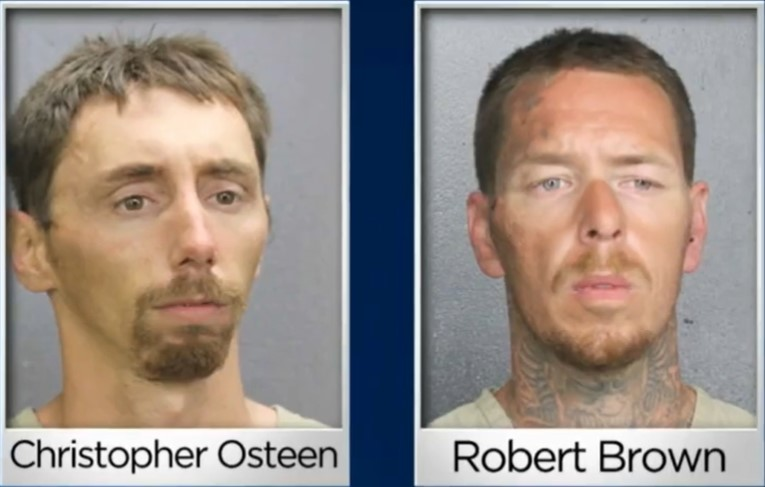 Tennessee fugitives captured in Florida - Screenshot courtesy of CBS Miami on YouTube