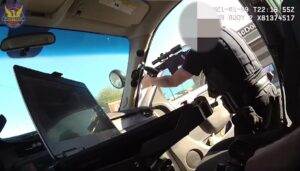 A Phoenix officer fires one round from his rifle striking Bolden (Phoenix Police Dept.)