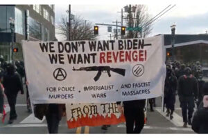 Antifa protesters attack Portland police forcing temporary retreat, smash windows during anti-Biden demonstrations