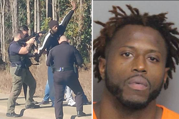 'Witness' fumes after seeing police aim guns at armed felon wanted for attempted murder