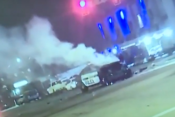 Police officer recovering after two good Samaritans rescue him from burning vehicle