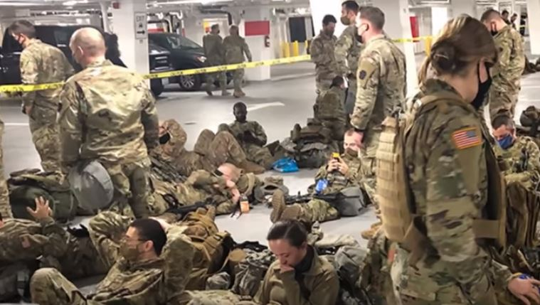 Here's who is responsible for kicking National Guard troops out of Capitol, making them rest in garage with one bathroom