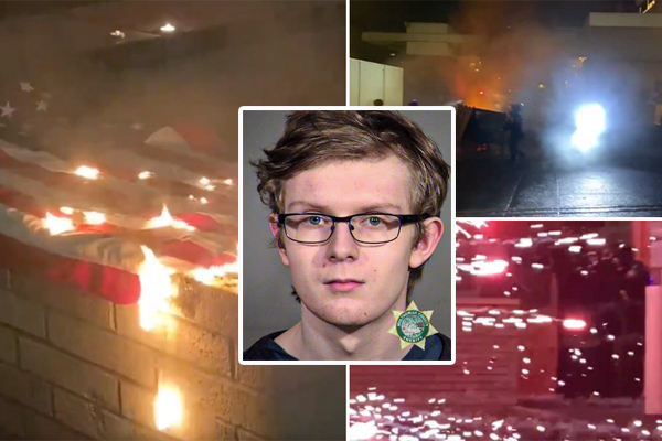 Rioters target law enforcement at ICE facility in Portland, shut down road, light fires - only one person arrested