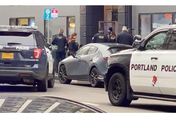 Protesters surround Portland police, attempt to block them from helping armed suicidal man