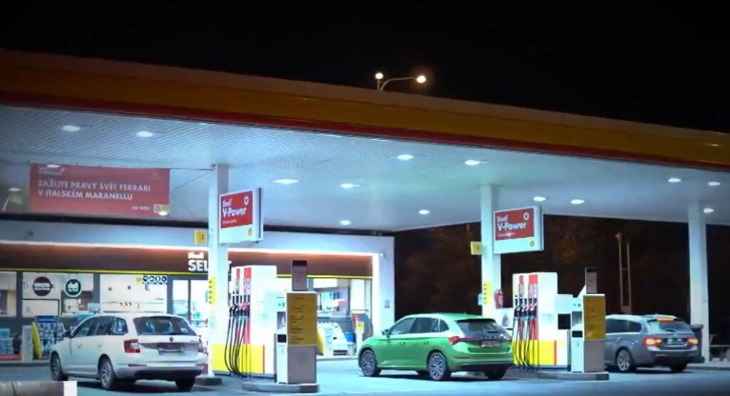 The Gas Station where the carjacking took place - Screenshot courtesy of ABC News