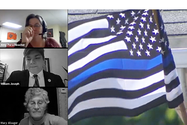 Vice mayor claims post taken 'out of context' after she compared the Thin Blue Line flag to the Nazi flag