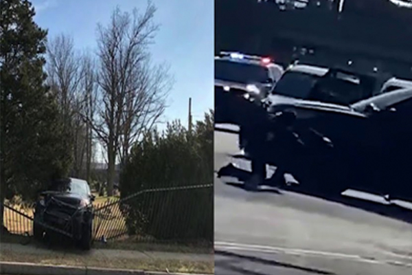 Watch: Robbery suspect steals police vehicle trying to evade arrest, hits officers with their own cruiser