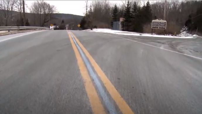 """Thin blue line painted between double-yellow lines on New Jersey roadway called """"symbol of hate"""""""