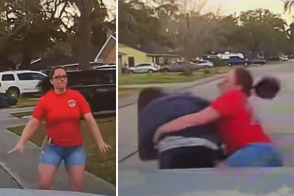 Epic takedown: Mom tackles man accused of peeking in her 15-year-old daughter's bedroom