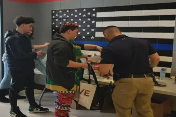Thin Blue Line flag mural that students painted is removed by school officials: 'That flag is racist'