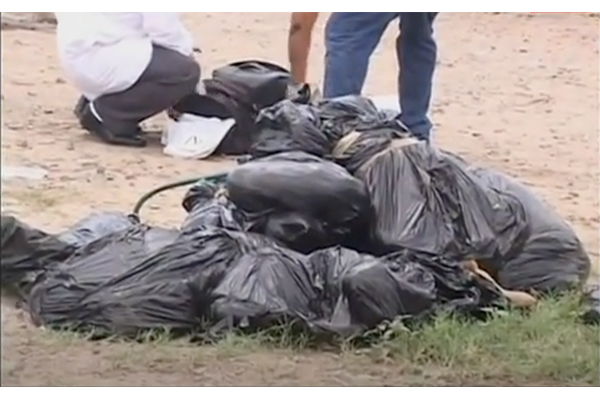Horror: 18 trash bags of human remains discovered near soccer stadium - massive cartel hit?