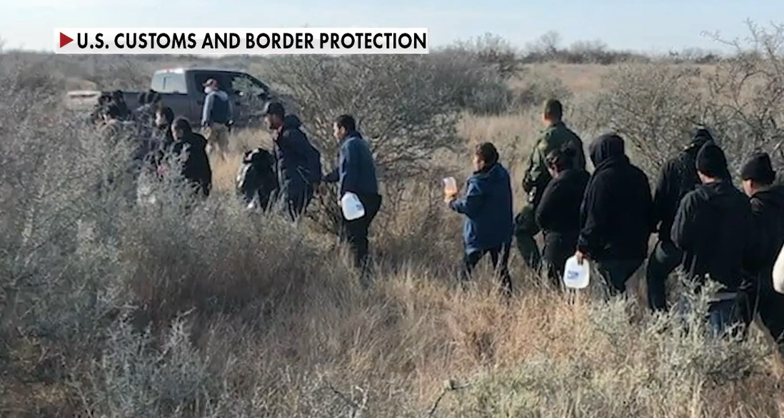 A growing border crisis is developing under the Biden administration - Screenshot courtesy of Fox News