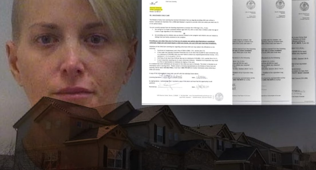Amanda Anderson facing felony child abuse charges after baby died at her unlicensed daycare - Screenshot courtesy of 9News on YouTube