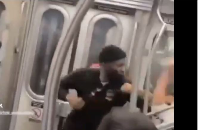 BREAKING: NYPD seeks the public's help in identifying a black male who assaulted an Asian male on city subway