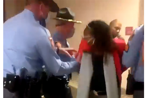 Georgia congresswoman gets arrested for 'disruptive behavior' outside governor's office