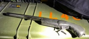 Image of shotgun recovered from home - Wichita Police Department