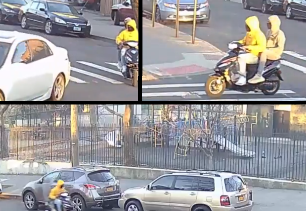 Video: Gunman on back of scooter opens fire on playground in NYC