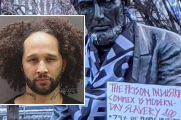 Former adjunct professor accused of vandalizing Lincoln statue, resisting arrest, possession of drugs
