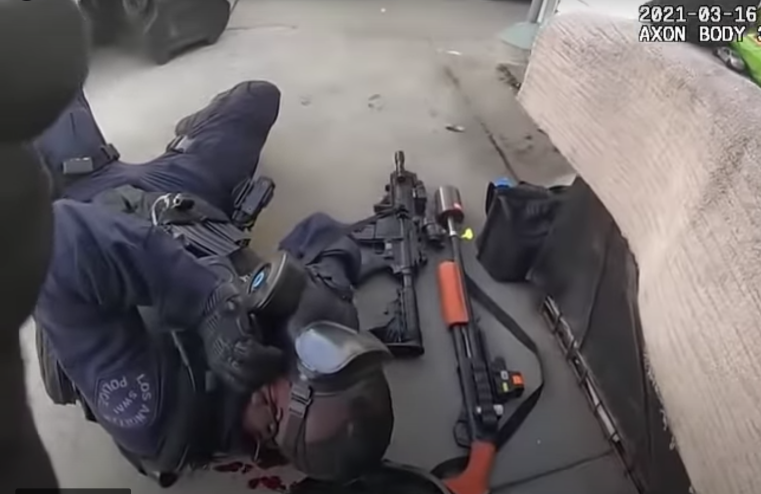 Video: LAPD SWAT officer shot in face during armed standoff - gunman taken out seconds later