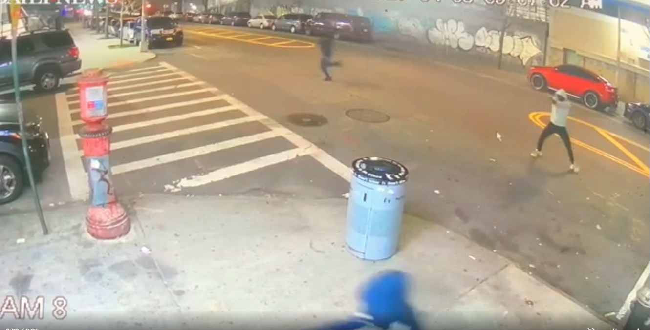 Caught on video: Team of gunmen opens fire outside Bronx deli, killing one man and wounding another