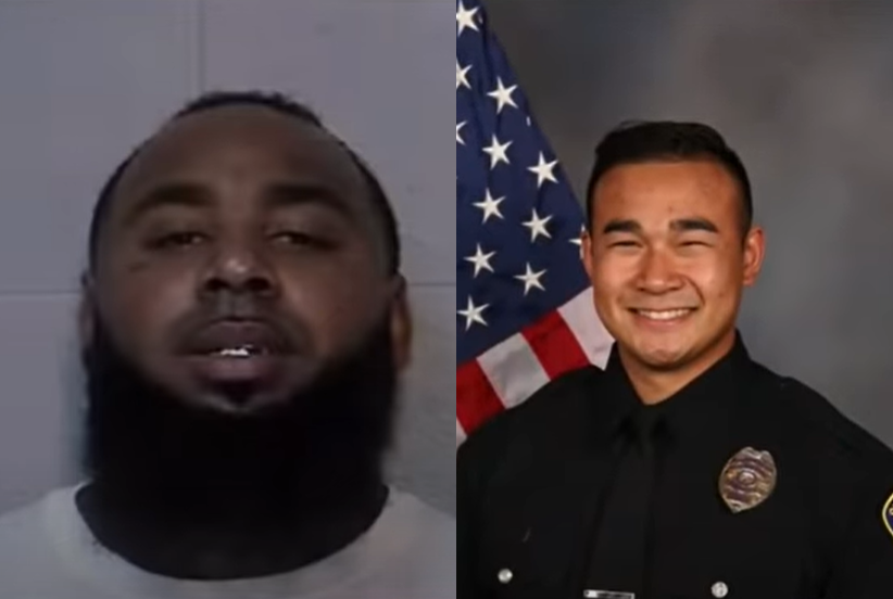 Suspect in fatal shooting of California police officer was out on parole