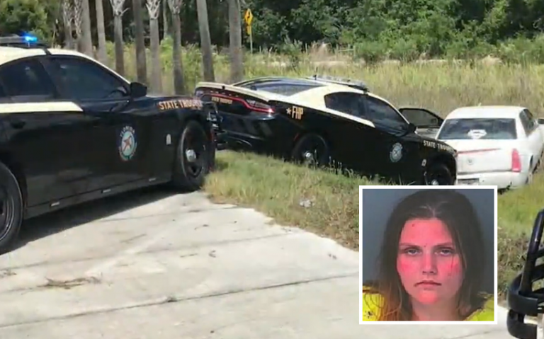 Florida Woman Abandons Kid And Urinates On Police Officers