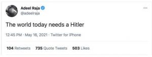 CNN contributor posts anti-Semitic, pro-Holocaust tweets in support of Hitler - yet is still verified on Twitter