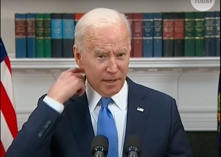 President Joe Biden give presser on Colonial Pipeline and vaccination program - Screenshot courtesy of USA Today on YouTube