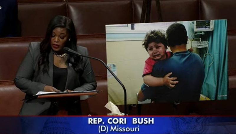 Rep. Cori Bush (D) speaking on the House floor - Screenshot courtesy of Forbes on YouTube