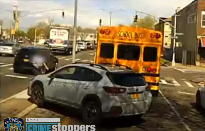 School bus driver intentionally run over - Screenshot courtesy of LLN on YouTube