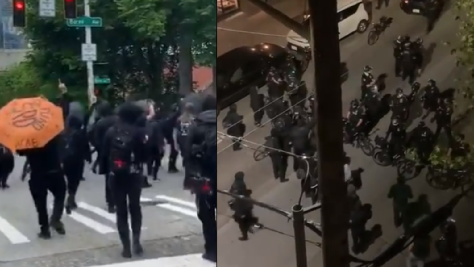 Seattle May Day protests turn violent as Antifa members assault cops and a small child