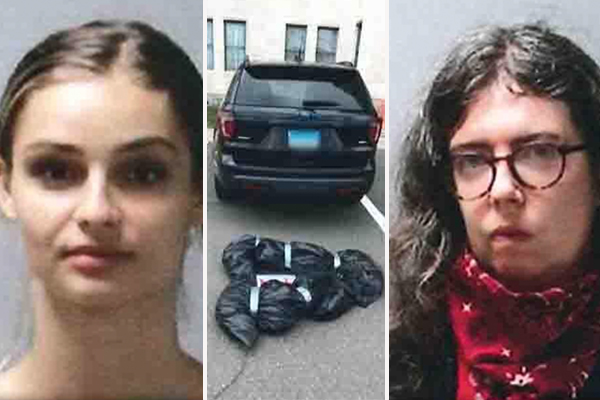 Police arrest two women from the 'Democratic Socialist' group who left fake body bags at state Capitol, other locations