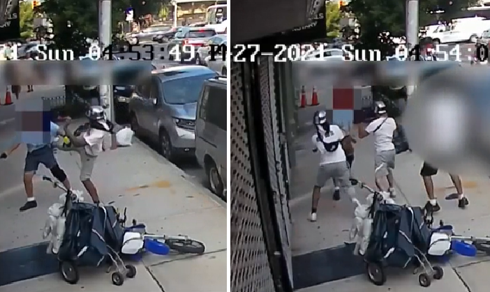 Video: USPS employee attacked in NYC by group of men