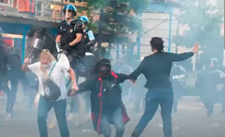 One year after Trump accused of having protesters tear-gassed for photo op, PD says he had nothing to do with it