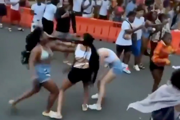 Predominantly black mob cheers as white woman savagely beaten at Juneteenth 'celebration'