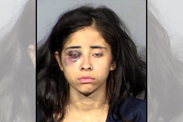 Woman threatens to kill Las Vegas cop, kicks and spits at the officer, slips out of handcuffs twice