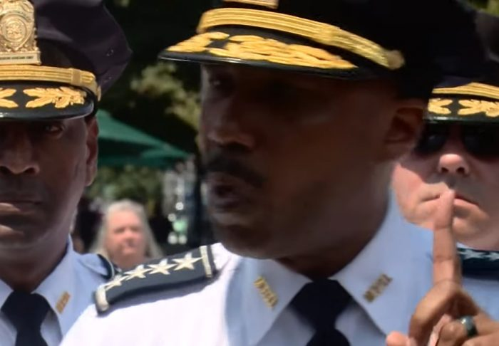 DC Police Chief Contee said he is 'mad as hell' - Screenshot courtesy of `WUSA on YouTube