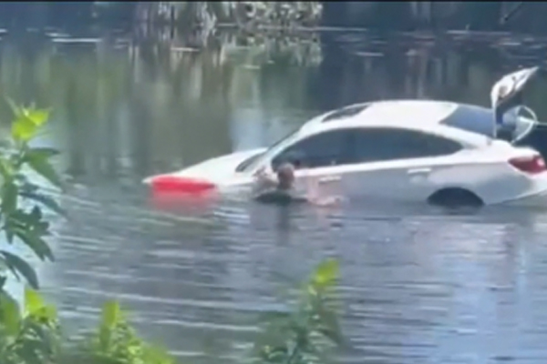 Video of deputies trying to save a driver in a sinking car- News4Jax