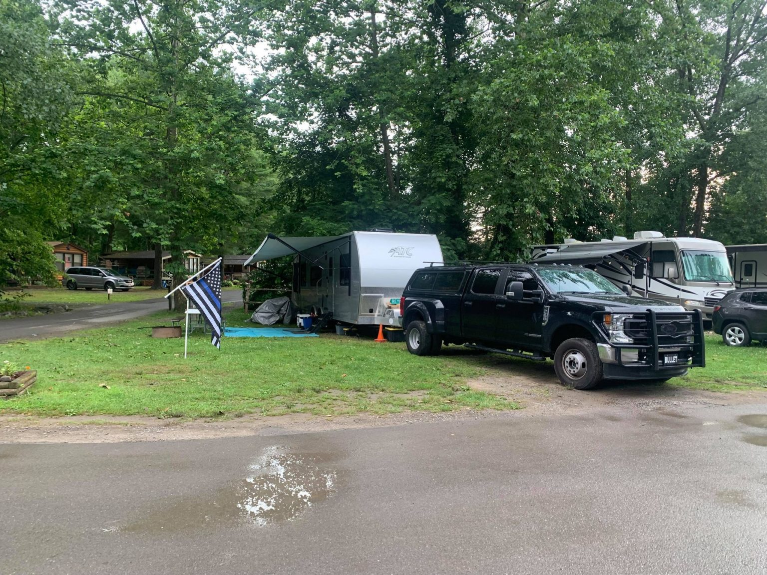 Retired police officer told he can't hang Thin Blue Line flag at RV campground