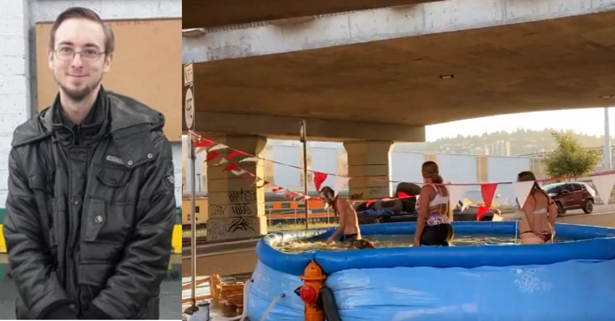 Man puts up pool for homeless people in Portland, gets stabbed to death the next day