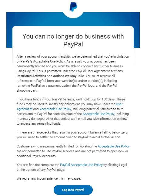 Paypal shuts down conservative, veteran-owned company - freezes nearly 0k in their money