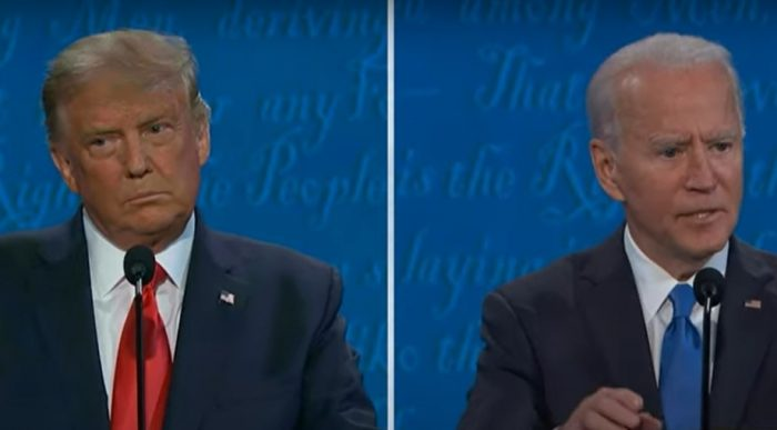 Trump and President Biden during second 2020 presidential debate - Screenshot courtesy of C-SPAN on YouTube