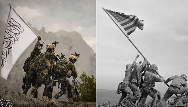 Taliban mocks U.S. by recreating World War II photo in psychological attack on military, veterans and America