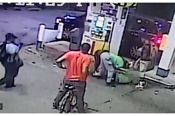 Robbery suspects caught on video wrestling victim to the ground at a gas station in police-defunded Washington DC