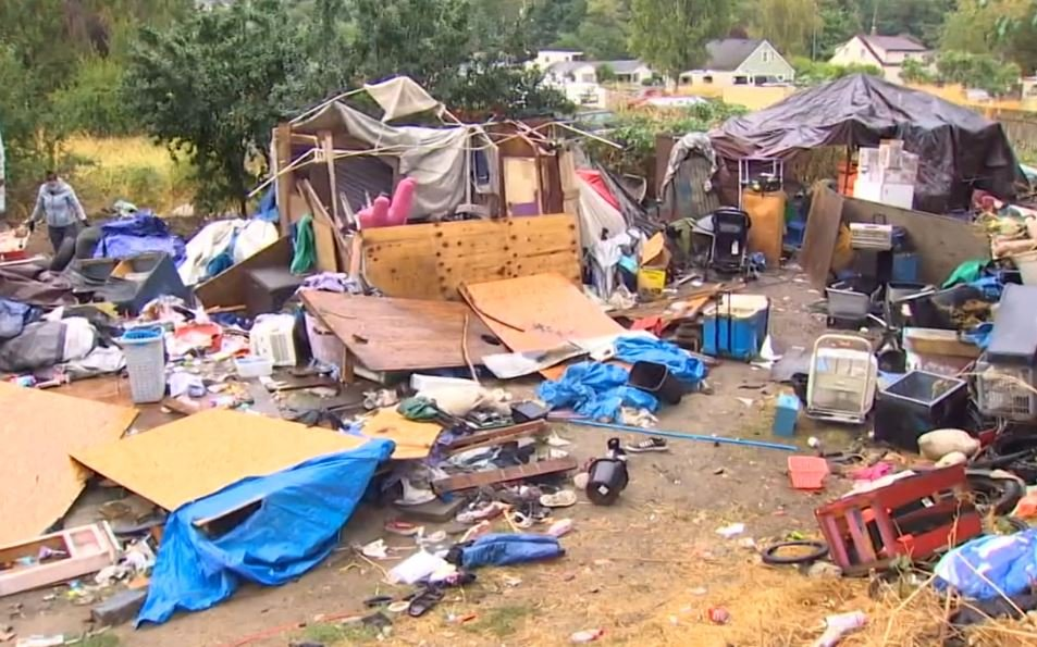 Homeless people take over & refuse to leave elderly man's property in Tacoma
